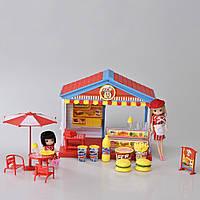 Детский игровой набор магазин (Бургеры) со светом и звуком IM372