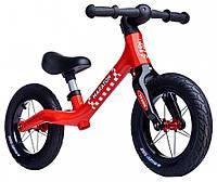 Детский беговел (велобег) Maraton Royal Red с регулируемым сиденьем Красный