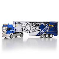 Игрушечный грузовик с рефрижератором со светом и звуком IM310