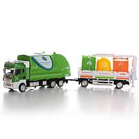 Игрушечный грузовой автомобиль с прицепом со светом и звуком IM306