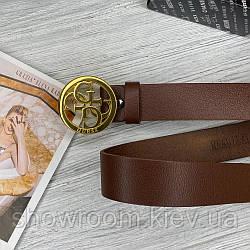 Женский кожаный ремень (4001) brown