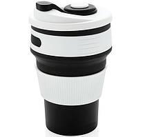 Чашка складна силіконова Collapsible 5332 350мл, чорна