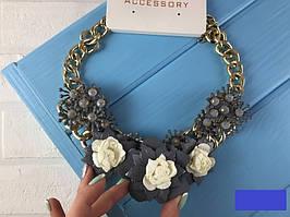 Ожерелье женское Цветы