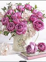 """Набір алмазної мозаїки """"рожеві троянди"""", фото 1"""