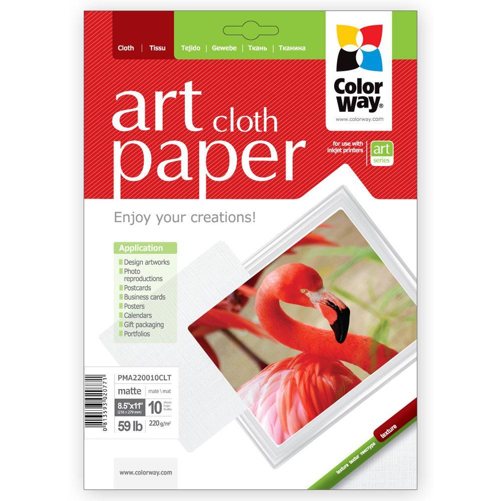 """ColorWay ART матовий фактура """"тканина"""" 220 гр, Letter, 10 листів (PMA220010CLT)"""