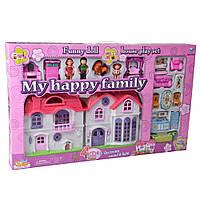Кукольный домик на батарейках с мебелью (Моя счастливая семья) IM334