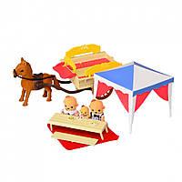 Игровой набор домик для пикника со световым эффектом  (Счастливая семья) IF257