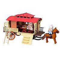 Игровой набор дом трейлер с лошадкой и мебелью (Счастливая семья) IF256
