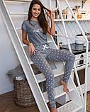 Женская серая пижама с сердечками Lucia Sensis, фото 4