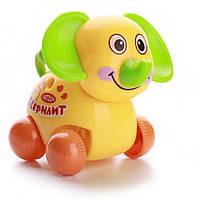 Заводная игрушка слоник на колесах (шт) IE445