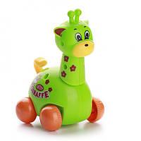 Заводная игрушка жираф на колесах (шт) IE444
