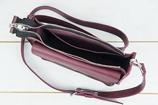"""Сумка жіноча, Шкіряна сумочка """"Куточок"""", Шкіра Італійський краст, колір Бордо, фото 2"""