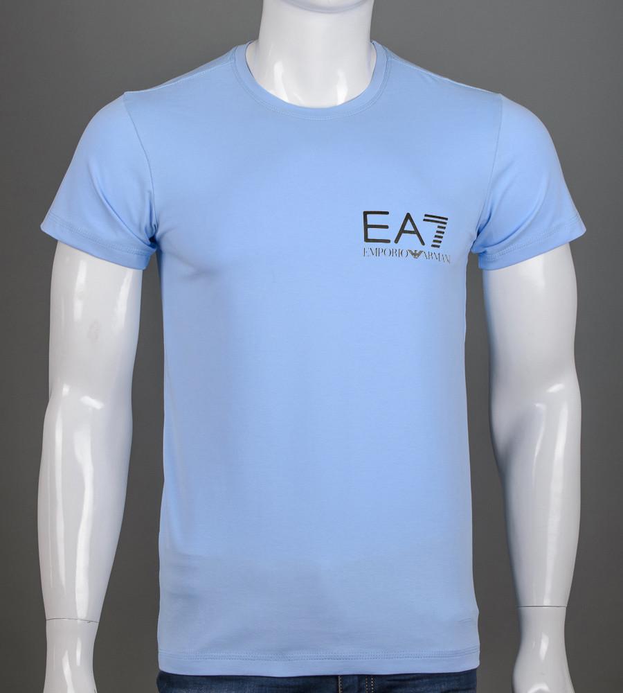 Футболка чоловіча EA7 Armani (2155м), Блакитний