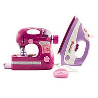 Игровой набор детской швейной машинки с утюгом IE373