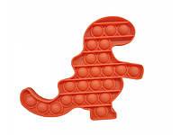 Антистресс сенсорная игрушка Pop It Динозавр Красный, фото 1