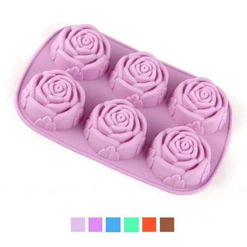 Форма для випічки силікон Трояндочки 6шт/л 26*17.5*3см