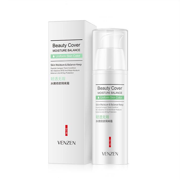 Защитная база под макияж зеленая Venzen Beauty Cover Innocent Isolation Cream, 30г
