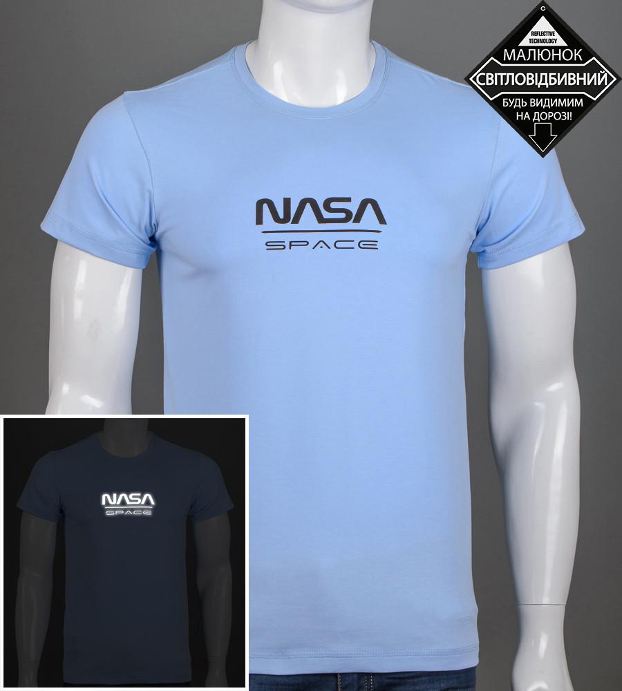 Футболка мужская NASA (2162м), Голубой