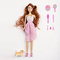 Набор кукла с фигуркой собачки и различными аксессуарами ID58