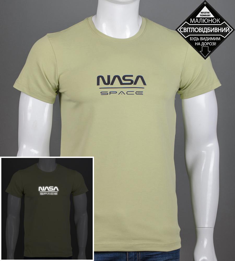 Футболка мужская NASA (2162м), Фисташковый