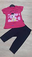 "Детский костюм футболка+капри ""FASHION"" для девочки 3-6 лет,цвет уточняйте при заказе, фото 1"