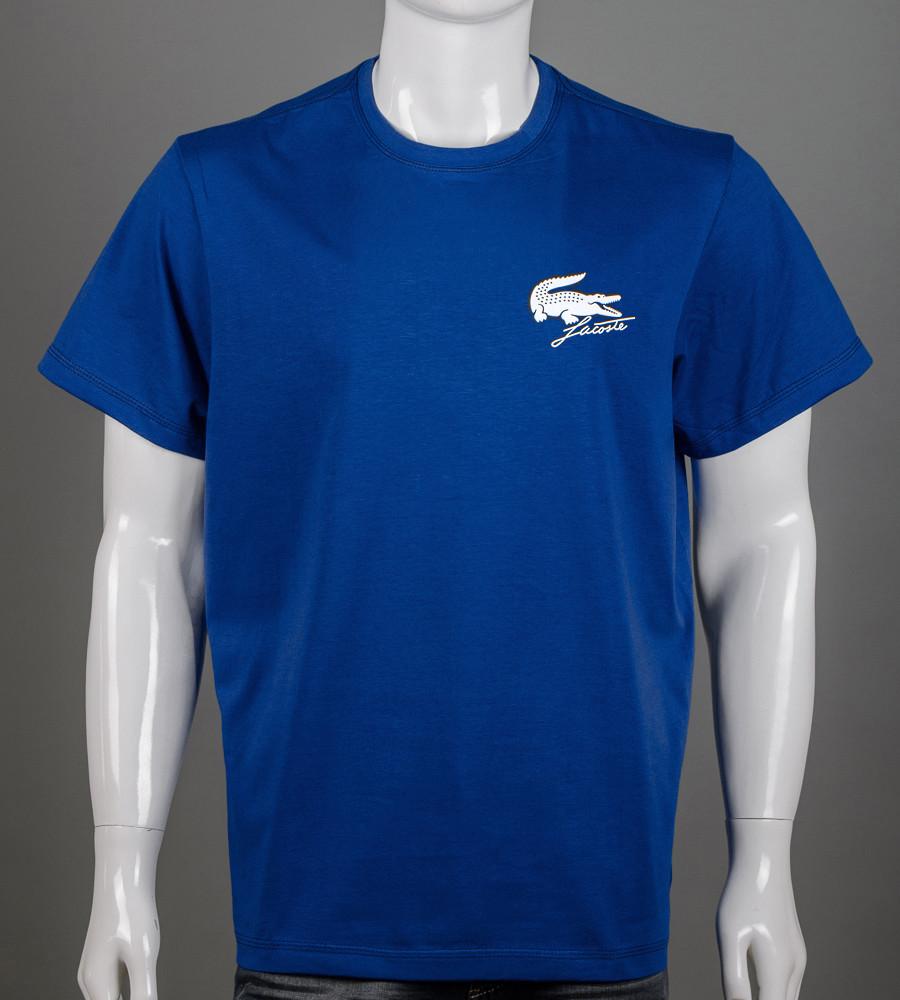 Футболка мужская батал Lacoste (2159б), Синий