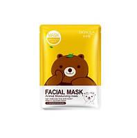 BioAqua Animal Moisturizing Mask - Тканевая маска с освежающим эффектом для уставшей кожи