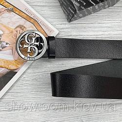 Женский кожаный ремень (4001) grey