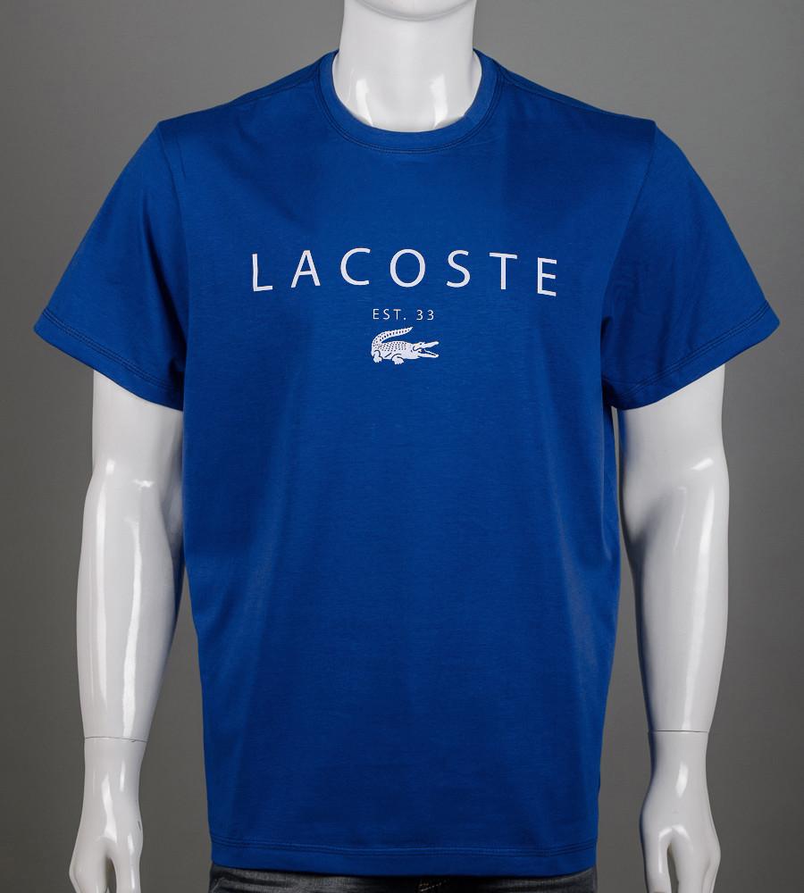 Футболка чоловіча батал LACOSTE (2006б), Синій