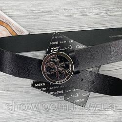 Женский кожаный ремень (4001) silver