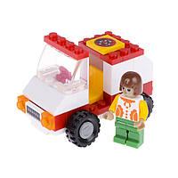 Детский конструктор (Город) машина доставки пиццы IM63B1
