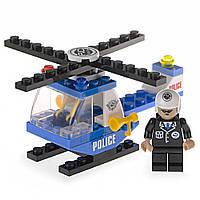 Детский конструктор (Патруль) вертолет и полицейский IM62C
