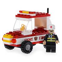 Детский конструктор (Пожарная бригада) пожарный джип IM61C
