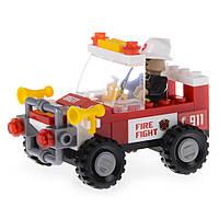 Детский конструктор (Пожарная бригада) пожарный внедорожник IM61B
