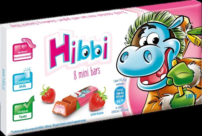 Дитячий шоколад Hibbi з полуницею 100 грам