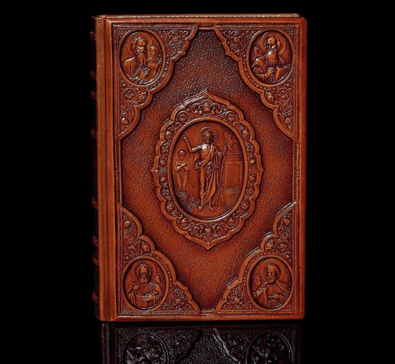"""Ілюстрована Біблія """"Новий Завіт"""" у шкіряній палітурці і подарунковому футлярі"""