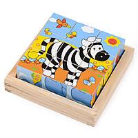 Набор развивающих деревянных кубиков в пенале IE130