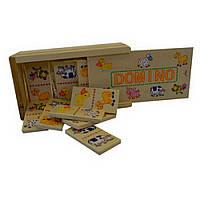 Деревянный набор детского домино с животными IE121