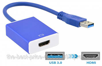 Внешняя USB 3.0 видеокарта USB - HDMI Full HD Blue