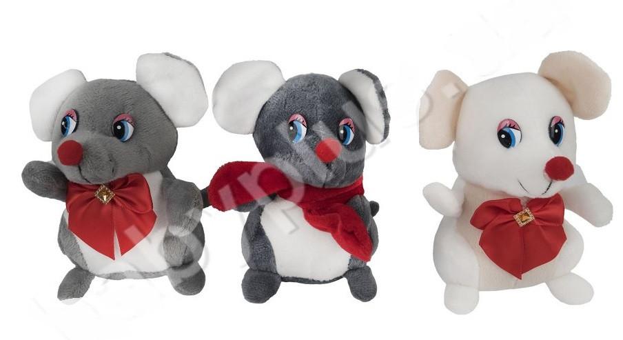 Мягкая игрушка  Мышка с аксессуаром 12 см