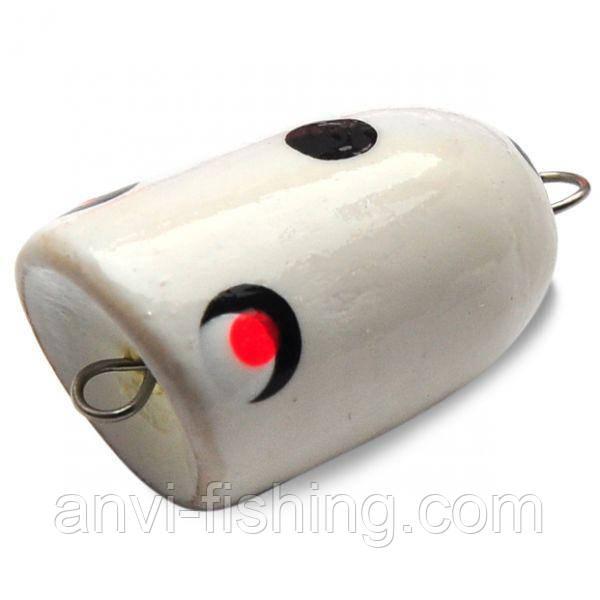 Поплавок Поппер Рыбацкая лавка - Белый (Чпок Фиш) 2 гр. - 30 мм
