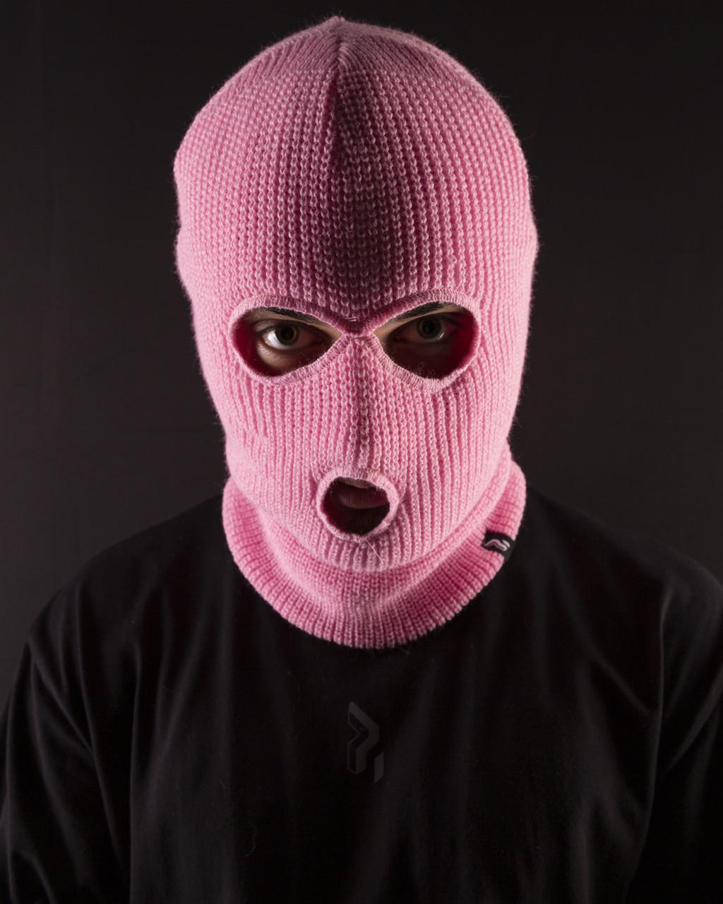 Балаклава унисекс Пушка Огонь нежно-розовый