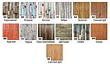 Самоклеящаяся декоративная 3D панель под дерево темный дуб 700*700*5мм 3д самоклейка для стен кухни коридора, фото 7