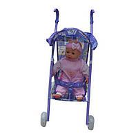 Кукла с детской коляской на батарейках ID6