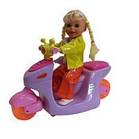 Танцующая кукла на мотоцикле (со светом и звуком) ID2