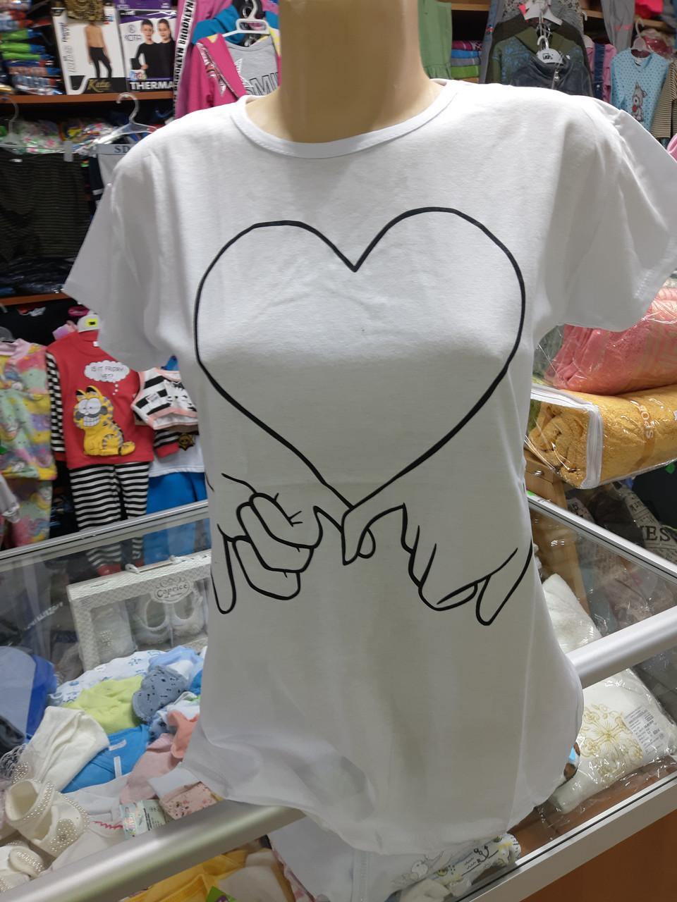 Женская футболка Модный патч р. 42 - 48