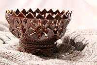 Красивая керамическая конфетница Букетница
