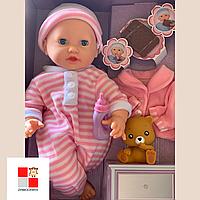 Кукла Пупс мягконабивной, Малятко Янголятко, 40см M 3885 интерактивный малыш новорожденный, обзор