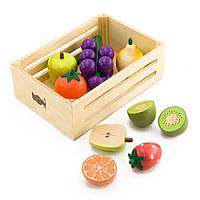 Деревянный игровой набор ящик с фруктами IF111