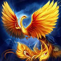 "Набор для рисования картин по номерам (раскраска) ""Птица Феникс - Символ возрождения"""